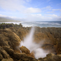 Pancake Rocks Blow Hole New Zealand