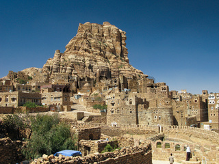 Traditional town of Thula, Yemen
