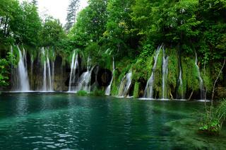 Wasserfall, See, Plitvicer Seen, Nationalpark, Kroatien,