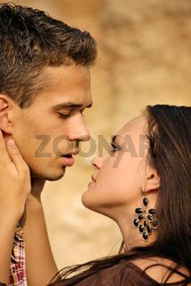 beautiful young couple.  Romance feelings