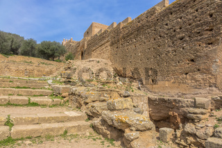 Ancient Ruins Of The Cellah Fortress Rabat Morocco