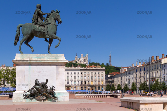 Statue of Louis XIV in Lyon city