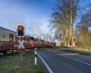 Eisenbahn am Bahnübergang