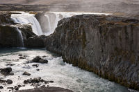 Iceland, waterfall Hrafnabjargarfoss