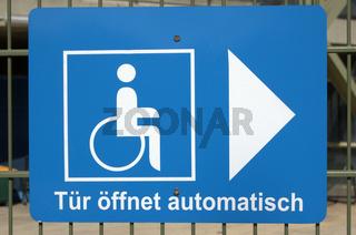 Behindertenfreundlicher Eingang