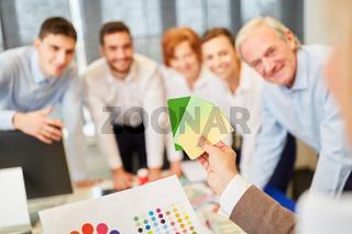 Designer Team in einem Workshop
