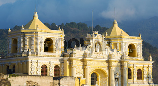 Baroque Yellow Church In Antigua