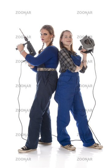 Two young workwomen