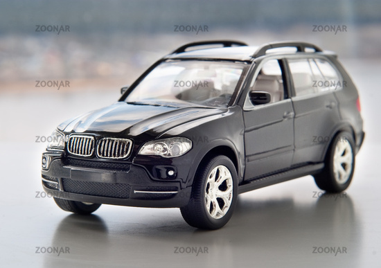 Model of a modern car on a neutral background