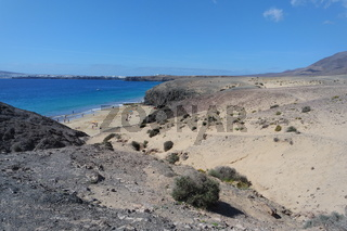 Blick auf Papagayo Strand,  Lanzarote