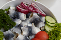 German specialty pickled herring