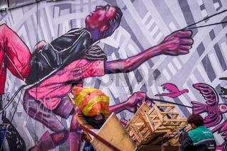Anti-capitalistic Street Art in Bogota