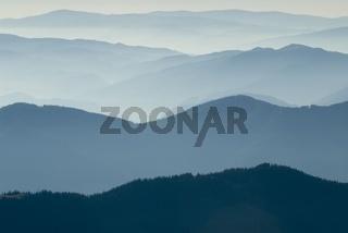 Nebelstimmung in den Bergen