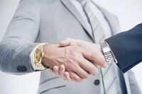 Closeup of a business hand shake