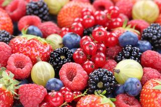 Beeren Früchte Erdbeeren Himbeeren Blaubeeren