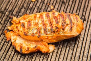 preparing chicken breast