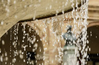 Water drops of fountain
