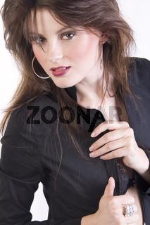 Studioaufnahme einer jungen Frau, photo, young woman