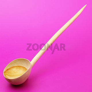 wooden spoon with water