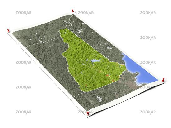 New Hampshire on unfolded map sheet.