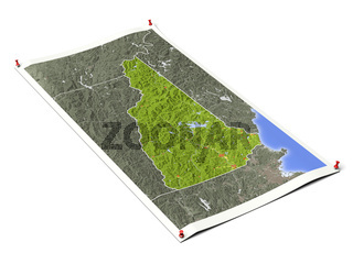 New Hampshire on unfolded map sheet.