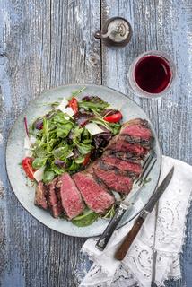 Wagyu Point Steak with Italian Salad