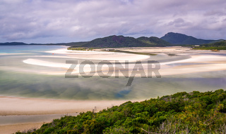 Hill Inlet at Whitsunday Island in rare green color