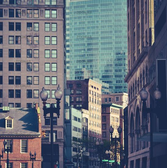 Busy Downtown Boston
