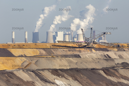 Open-cast lignite mine, Garzweiler, North Rhine-Westphalia, Germany, Europe