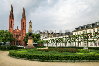 Luisenplatz square with St. Bonifatius church and residential bu