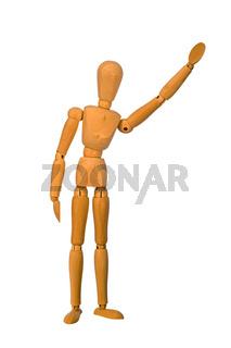 Mannequin waving