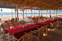 Cafe on the beach, Goa, India