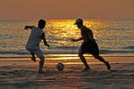 Strandfußball, Koh Chang, Thailand, Asien