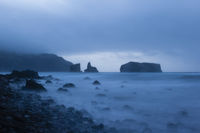 Twilight hour at Mostairos coast, Azores, Portugal