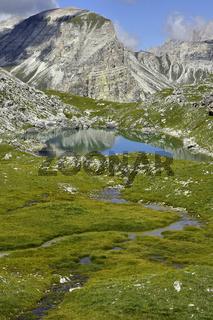 Crespeinasee in der Puezgruppe; Dolomiten; Suedtirol;