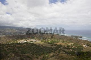 Blick auf Maunalua Bay und Koko Head