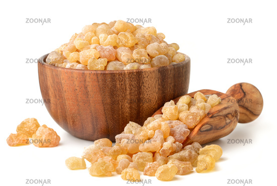 Pure Organic Frankincense Resin isolated on white