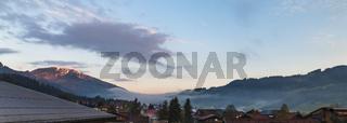 Morgenstimmung im Tannheimer Tal, Tirol, Oesterreich, Fruehling, Mai