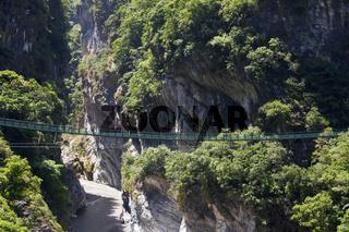 Hängebrücke im  Nationalpark Taroko-Schlucht bei Hualien