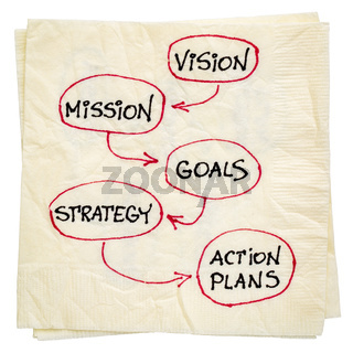 vision, mission, goals, strategy and asction plan