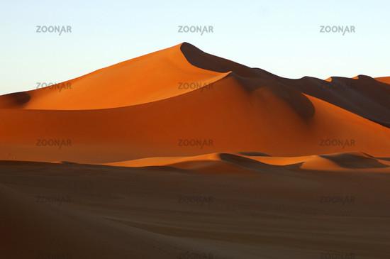 Sanddünen im Abendlicht, Sahara