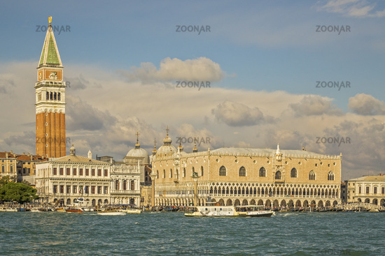 Doge's Palace and St Mark's Campanile Venice Italy