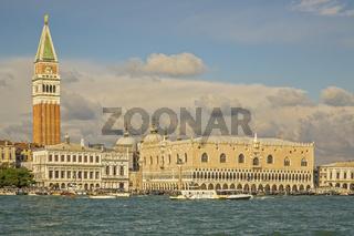 Doge's Palace and St Mark's Campanile Venice Italy