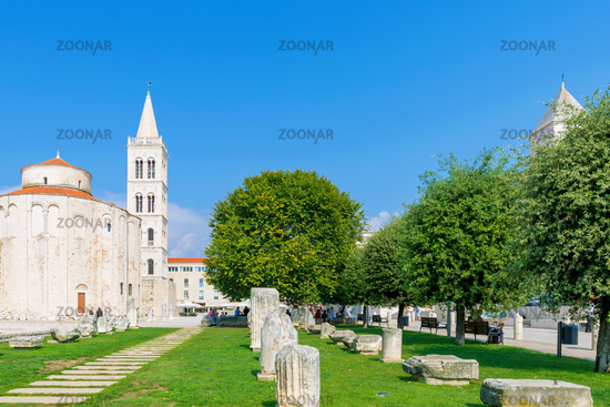 Old town Zadar on a sunny day