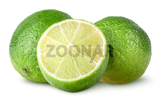 Half and two whole limes