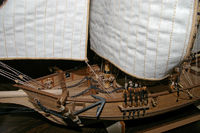 Bow of a model ship