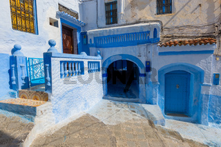 Blue street inside Medina of Chefchaouen