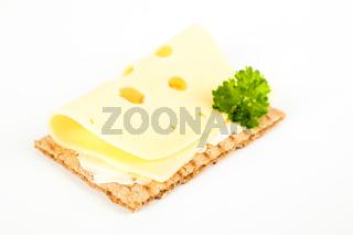 Knäckebrot mit Käse
