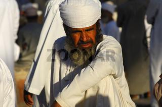 Portrait eines Omani Mann mit Mussar Turban