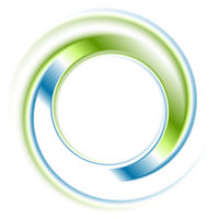 Abstract bright blue green ring logo
